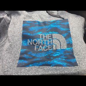 North face sweatshirt excellent condition .
